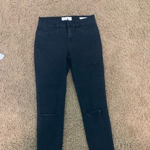 Dark wash skinny ankle jeans